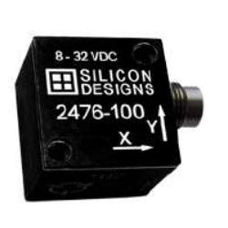 Accéléromètre capacitif triaxial hautes performances